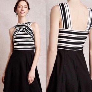 Anthropologie Maeve Bandage Dress Black White
